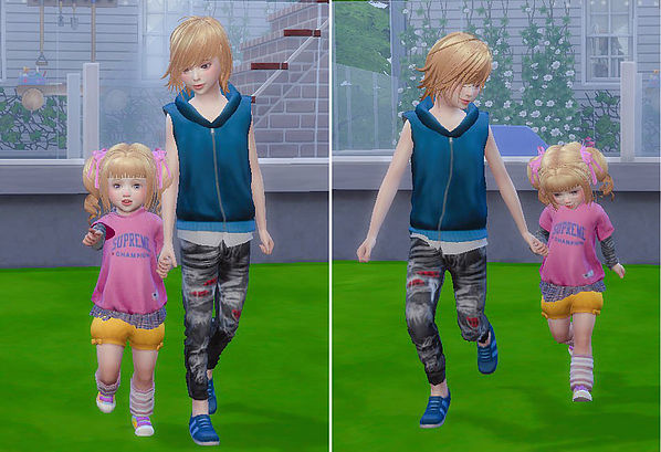Brothers & Sisters pose 06 at A luckyday image 1031 Sims 4 Updates