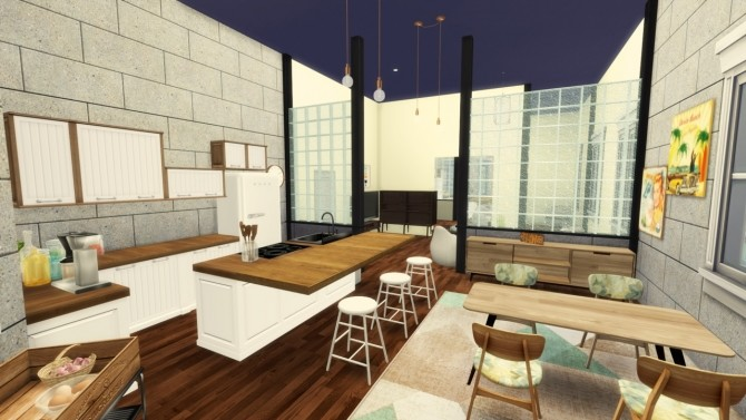 Sims 4 2B Jasmine Suites one bedroom apartment at Simming With Mary