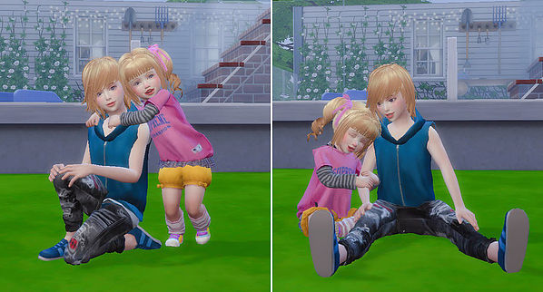 Brothers & Sisters pose 06 at A luckyday image 1042 Sims 4 Updates
