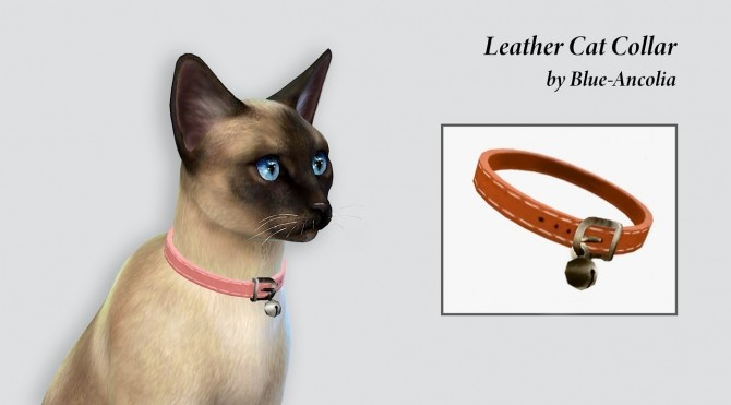 Sims 4 Leather cat collar at Blue Ancolia