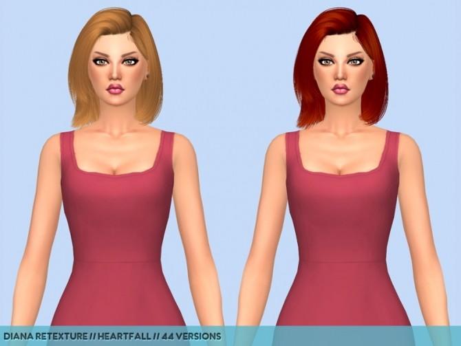 Sims 4 5 Hair retextures at Heartfall