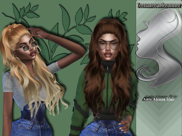 Sims 4 Atenea Hair Recolor at Teenageeaglerunner