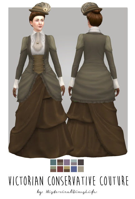 Victorian Conservative Couture at Historical Sims Life image 10814 Sims 4 Updates