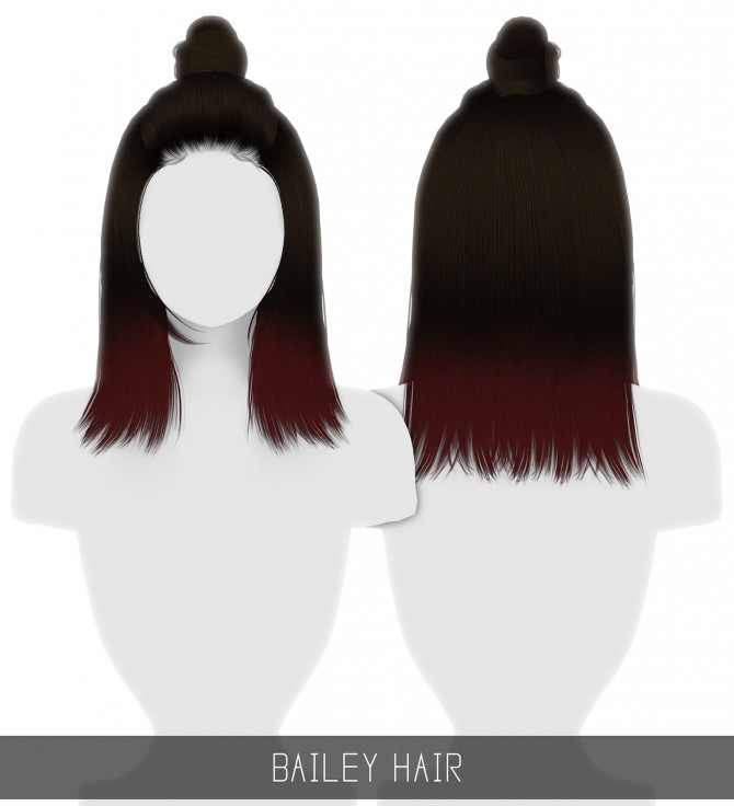 Sims 4 BAILEY HAIR + OMBRES at Simpliciaty