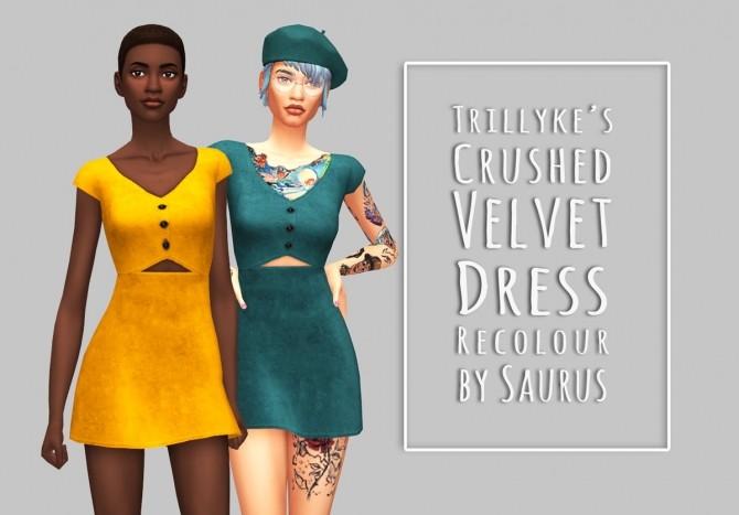 Sims 4 Lovesick Dress Recolour at Saurus Sims