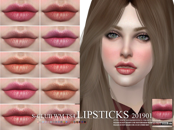 Lipstick 201901 by S Club WM at TSR image 1107 Sims 4 Updates