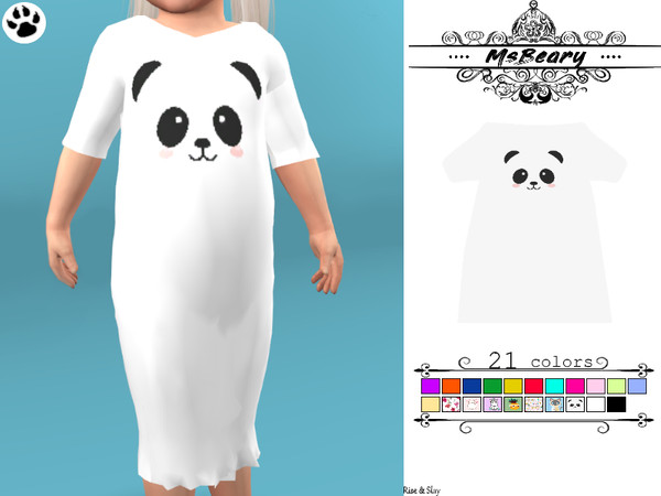 Sims 4 Toddlers Nightgown by MsBeary at TSR