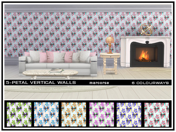 5 Petal Vertical Walls by marcorse at TSR image 1120 Sims 4 Updates