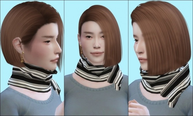 Sims 4 Minimalist scarf at PW's Creations