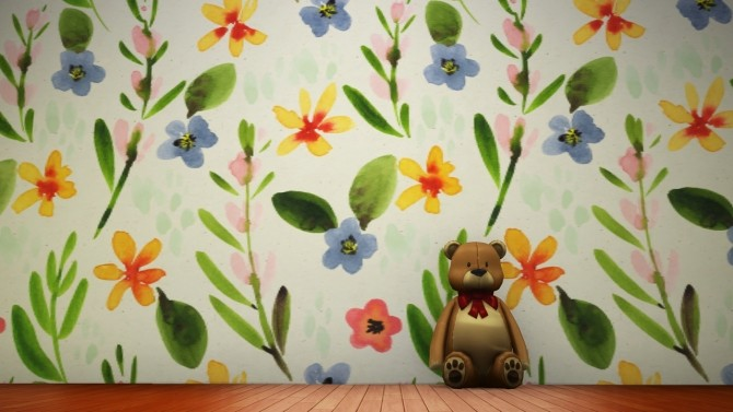 Floral Murals At Miss Ruby Bird » Sims 4 Updates