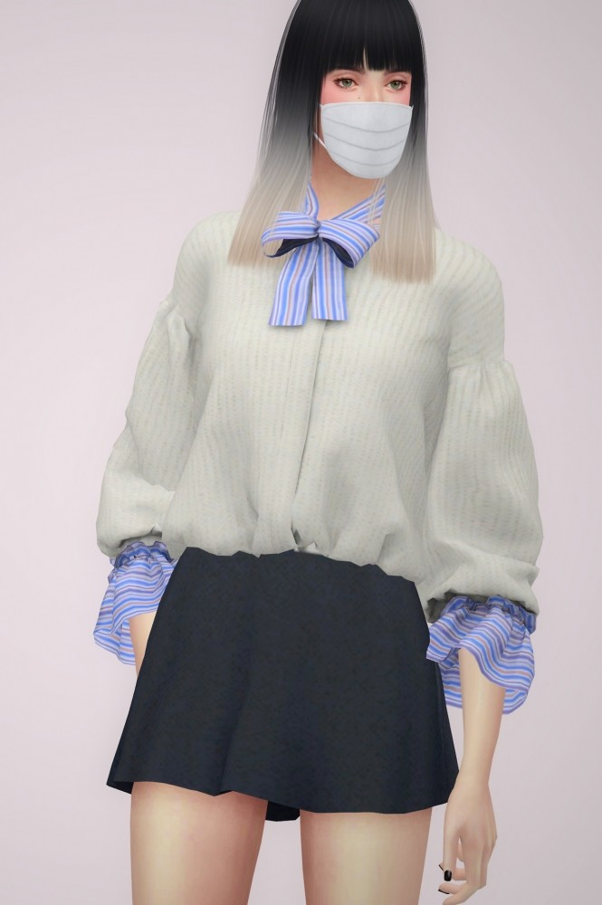 Sims 4 PUFF SLEEVE CARDIGAN at BY2OL