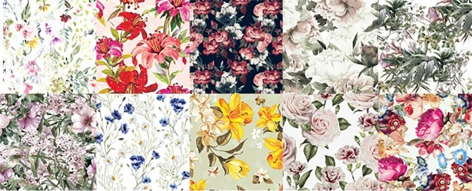 Flower Delicacy Textyle Collection by Sooky at Blooming Rosy image 1145 670x271 Sims 4 Updates