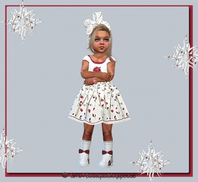 Sims 4 Designer Set Dress & Headband for little Girls at Sims4 Boutique