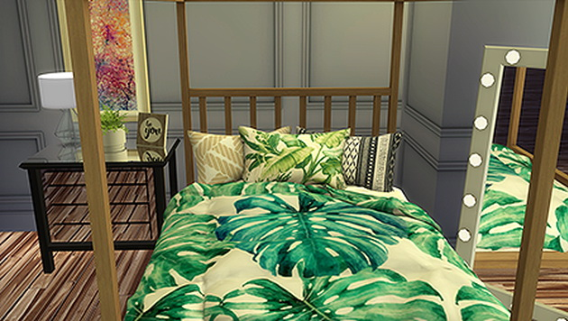 Decorative HD Triple Bed Pillows by SimVault Renna at Blooming Rosy image 1155 Sims 4 Updates