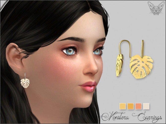Monstera Earrings For Kids at Giulietta image 1184 670x502 Sims 4 Updates