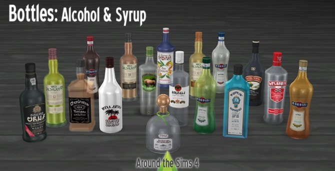 Bottles set by Sandy at Around the Sims 4 image 1185 670x343 Sims 4 Updates