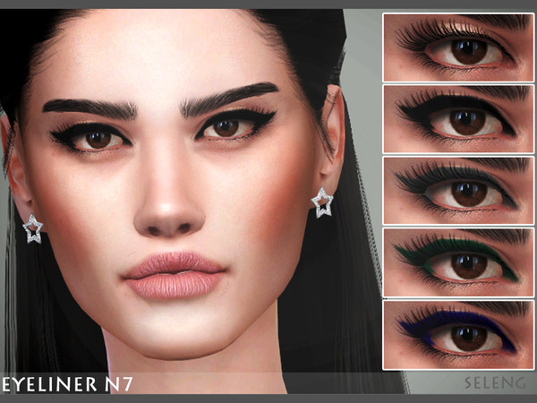 Sims 4 Eyeliner N7 by Seleng at TSR