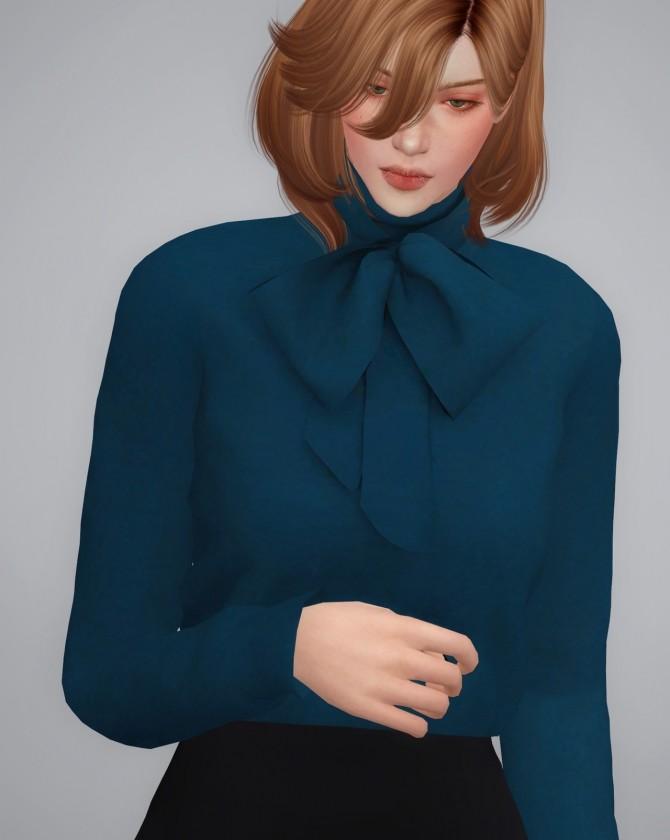 Sims 4 RIBBON BLOUSE at BY2OL