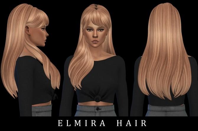 Sims 4 Elmira Hair (P) at Leo Sims