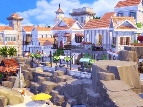 Italian Beach Village by kaibellvert at TSR image 1200 Sims 4 Updates