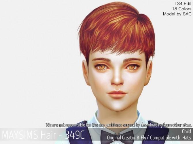 Sims 4 Hair 349C (B fly) at May Sims