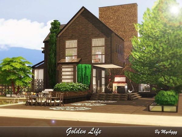 Golden Life house by MychQQQ at TSR image 1218 Sims 4 Updates