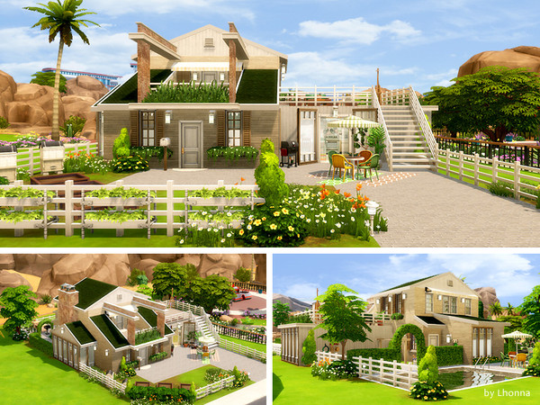 Calm Green house by Lhonna at TSR image 1219 Sims 4 Updates