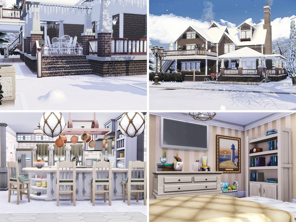 Little Snowflakes house by MychQQQ at TSR image 1220 Sims 4 Updates