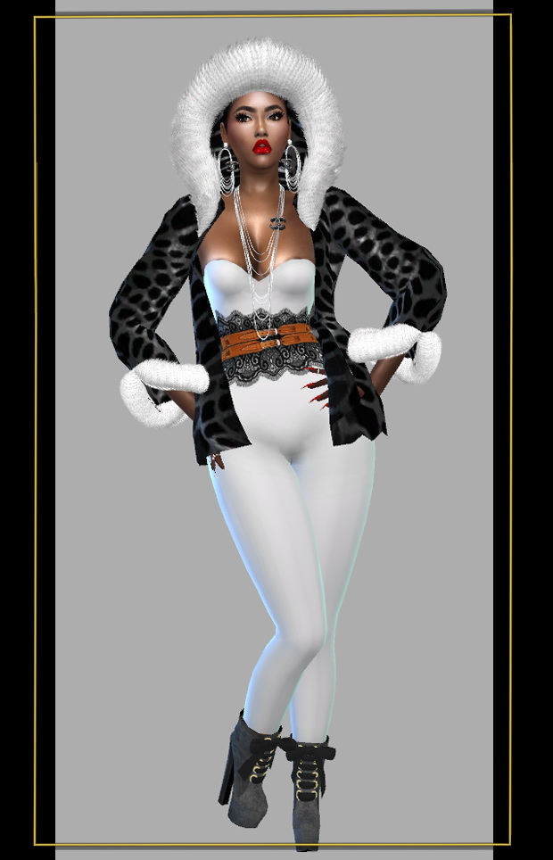 Jacket, outfit & High heels at FusionStyle by Sviatlana image 1222 Sims 4 Updates