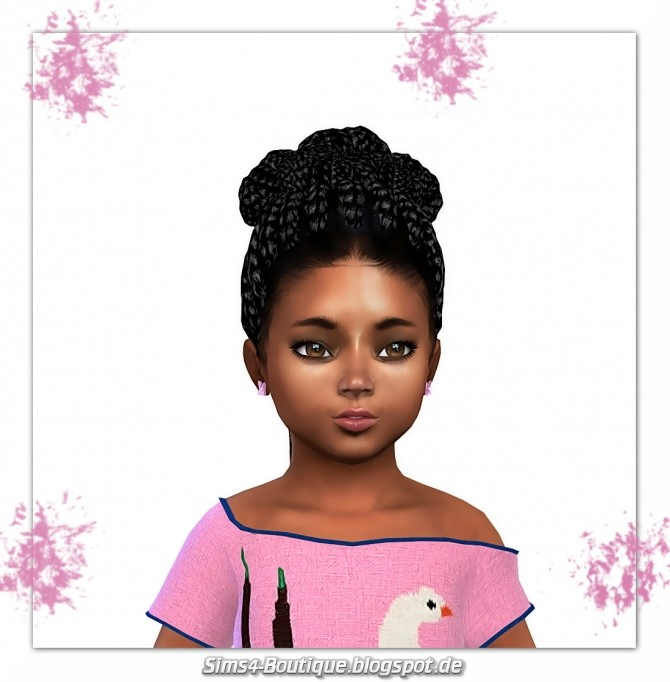 Sims 4 Designer Set Pants & Shirt for Toddler Girls at Sims4 Boutique