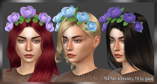 Hair accessory 16 at All by Glaza image 12412 Sims 4 Updates