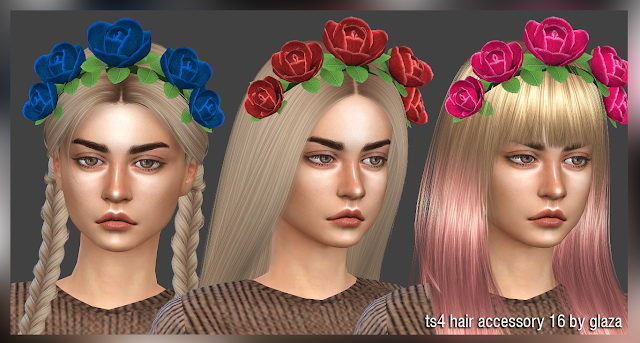 Hair accessory 16 at All by Glaza image 12512 Sims 4 Updates