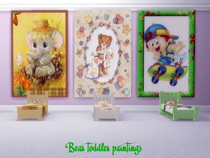 Bear toddler paintings at Trudie55 image 12711 670x503 Sims 4 Updates
