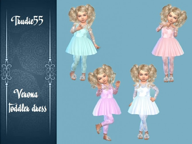Verona toddler dress at Trudie55 image 12811 670x503 Sims 4 Updates