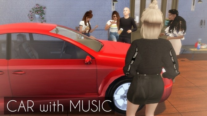 Car with music at Descargas Sims image 1282 670x376 Sims 4 Updates
