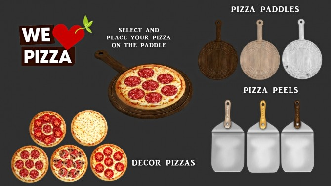 We Love Pizza set (P) at Leo Sims image 12911 670x377 Sims 4 Updates