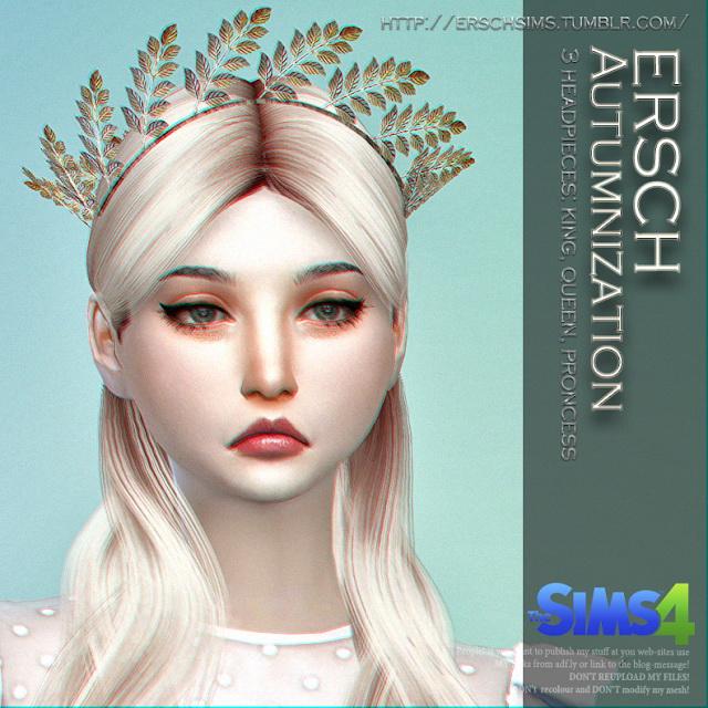 Autumnization Crowns at ErSch Sims image 1292 Sims 4 Updates