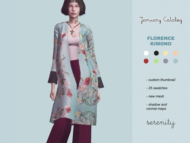 Sims 4 January catalog at SERENITY