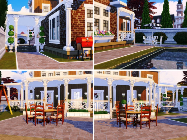 Sims 4 Exclusive Victorian house by MychQQQ at TSR