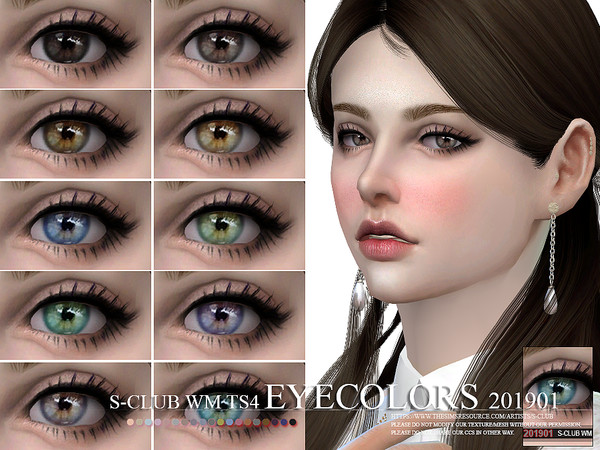 Eyecolors 201901 by S Club WM at TSR image 1317 Sims 4 Updates