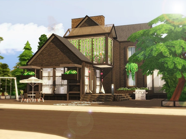 Golden Life house by MychQQQ at TSR image 1318 Sims 4 Updates