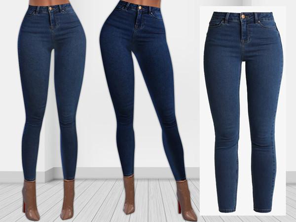 Sims 4 Super Soft Skinny Jeans by Saliwa at TSR