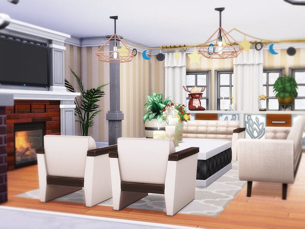 Little Snowflakes house by MychQQQ at TSR image 1320 Sims 4 Updates