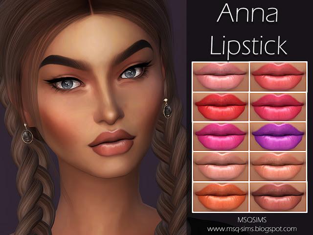 Sims 4 Anna Lipstick at MSQ Sims