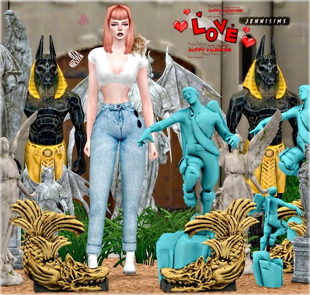 Sims 4 Decorative Statues 6 Items at Jenni Sims