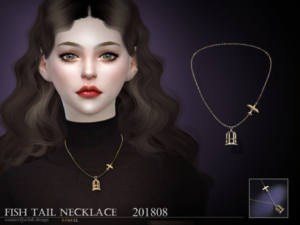 Sims 4 Necklace F 201808 by S Club LL at TSR