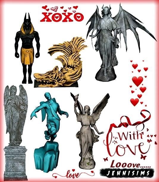 Decorative Statues 6 Items at Jenni Sims image 13312 Sims 4 Updates