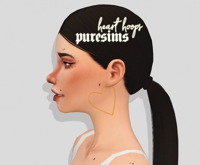 Heart hoops at Puresims image 1336 670x555 Sims 4 Updates