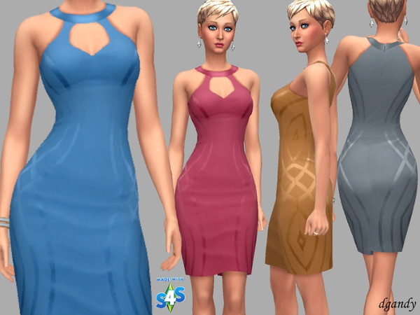 Sims 4 Dress B201901 2 by dgandy at TSR