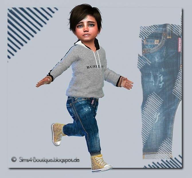 Designer Set Shirt & Jeans for little Boys at Sims4 Boutique image 13611 670x622 Sims 4 Updates